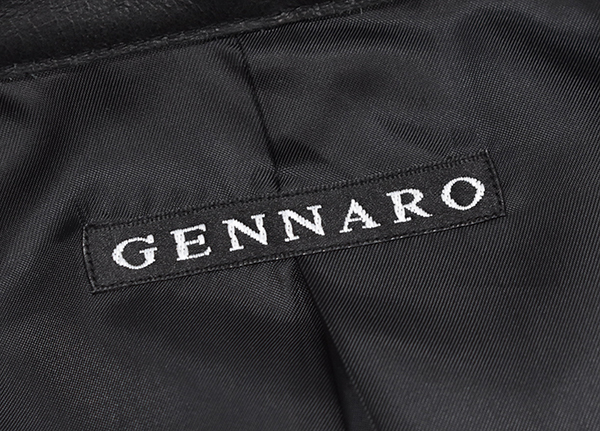 定価48,600円 ジェンナロ【GENNARO】牛革 バッファローレザー シングルライダースジャケット 黒 Mサイズ_画像7