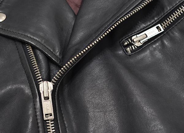 定価¥54,000 ギャップ GAP 羊革 ラムレザー バイカージャケット/ダブルライダース 中綿入り 黒/Lサイズ_画像6