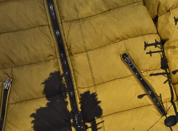 美品 定価¥72,360 ディーゼル DIESEL 「W-MAIN JACKET」メンズ グラデーションフォトプリントダウンジャケット Mサイズ_画像4