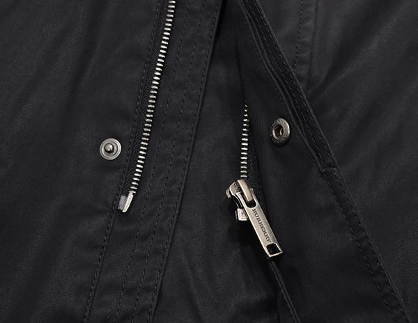 三陽商会 バーバリーロンドン【BURBERRY LONDON】コットン M-65 ミリタリージャケット 黒/ノバチェック_画像7