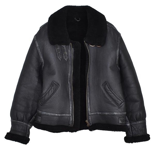 レア◎ 【young】 羊革 b-3 リアルムートン フライトジャケット B-3/黒_画像1