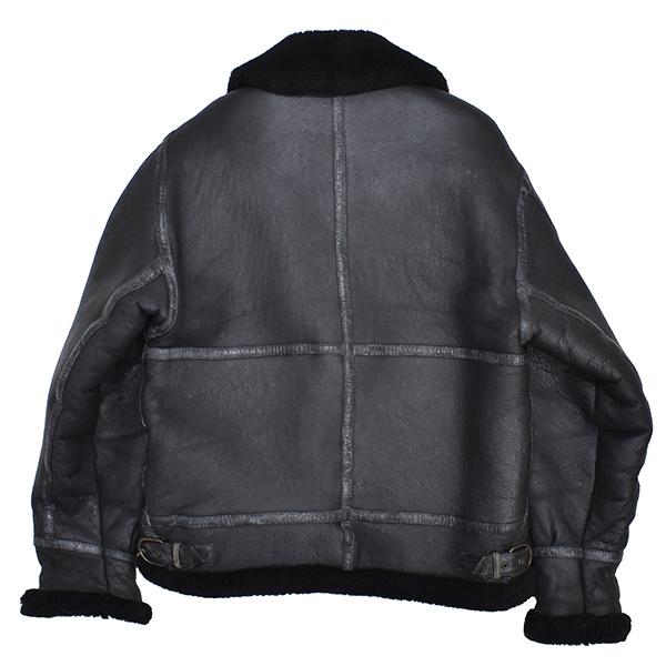 レア◎ 【young】 羊革 b-3 リアルムートン フライトジャケット B-3/黒_画像2