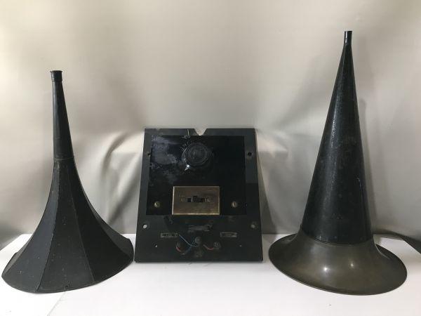◇◆E-131 蓄音機部品 変圧機 ラッパ ◆◇
