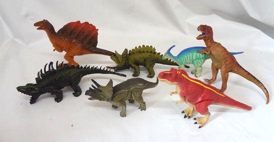 フィギュア 恐竜 動物 まとめて 合計7体セット メーカー不明_画像1