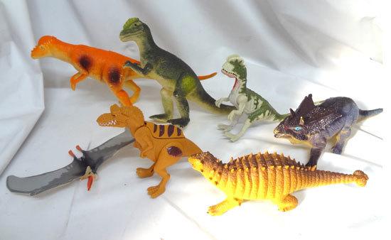 フィギュア 恐竜 動物 メーカー不明 まとめて 合計7体セット_画像1
