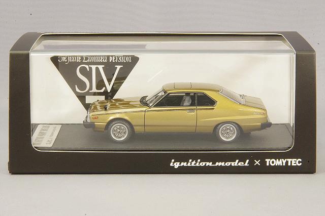 イグニッションモデル x トミーテック 1/43 日産 スカイライン 2000 GT-ES ゴールデンカー T-IG4307 / 西部警察 ジャパン C210 _画像4