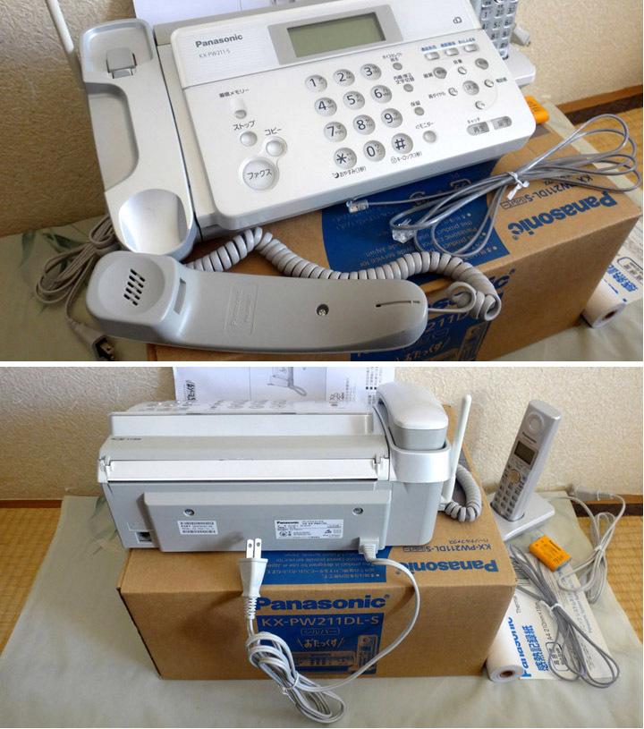 新品 パナソニック 感熱紙ファクス電話機(子機1台付き) KX-PW211DL-S Panasonic おたっくす_画像8