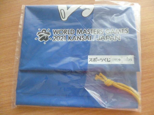 未開封・非売品】東京マラソンEXPO 2019■World Masters Games 2021 KANSAI ワールドマスターズゲームズ2021関西シューズケース/巾着スフラ_画像2