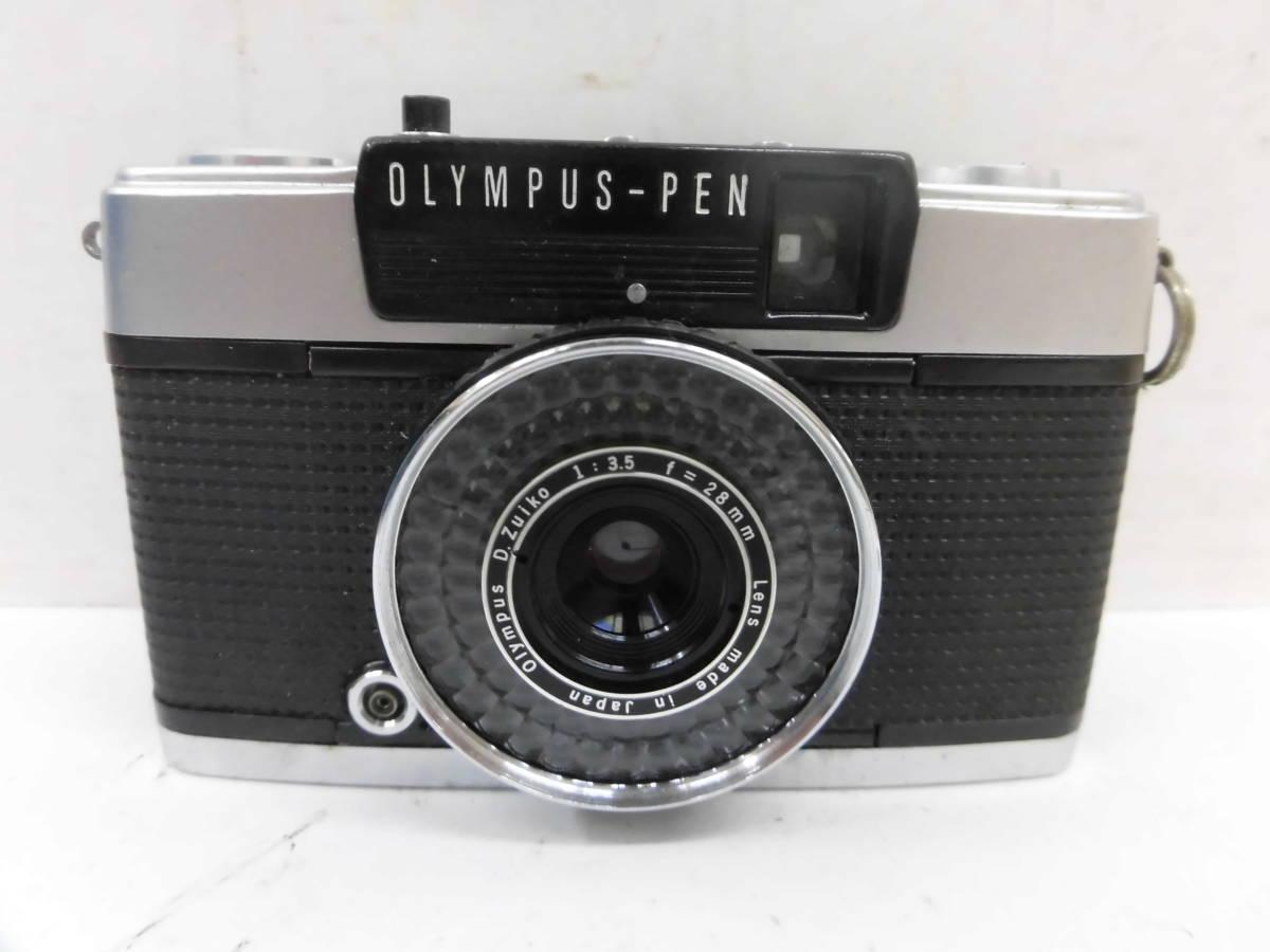 H1538棚21 OLYMPUS-PEN★オリンパスペン 【EE-3】 レンジファインダー D.Zuiko 1:3.5 f=28mm_画像2