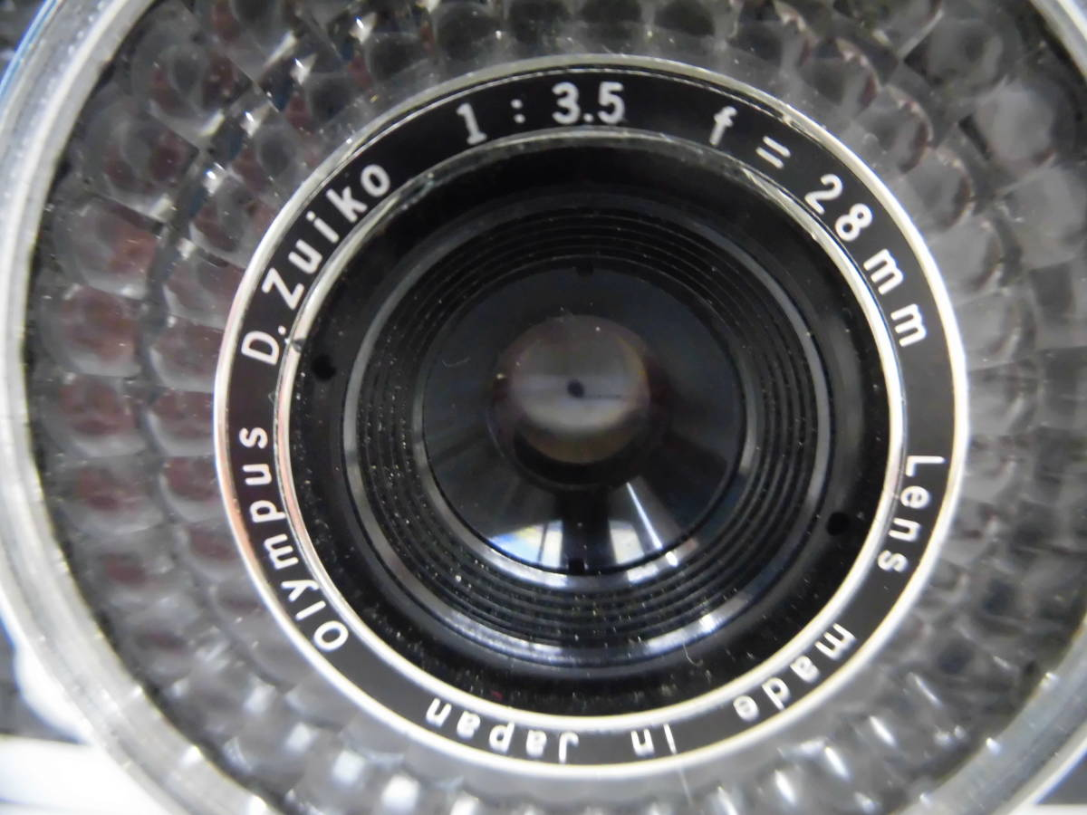 H1538棚21 OLYMPUS-PEN★オリンパスペン 【EE-3】 レンジファインダー D.Zuiko 1:3.5 f=28mm_画像3