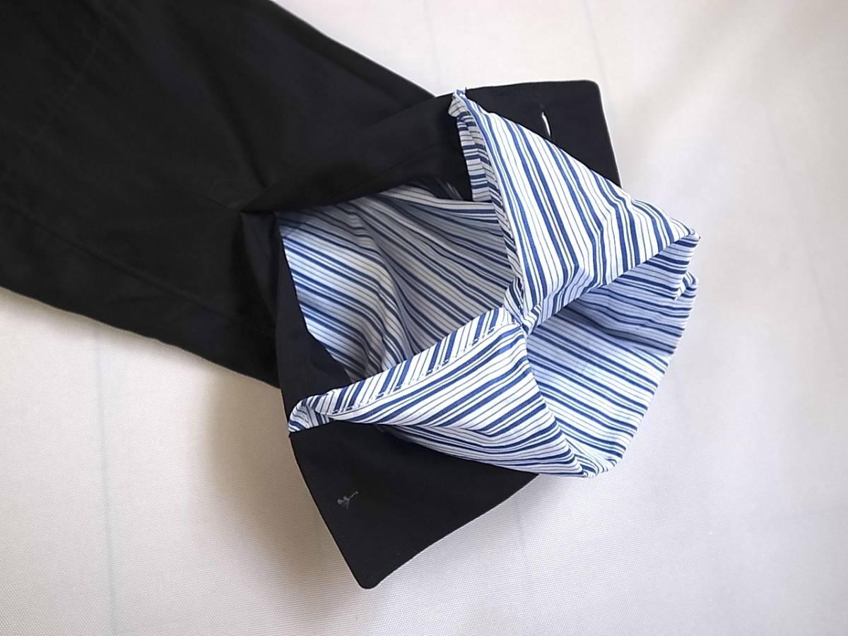 COMME des GARCONS SHIRT 袖口ストライプ ブラック シャツ sizeS