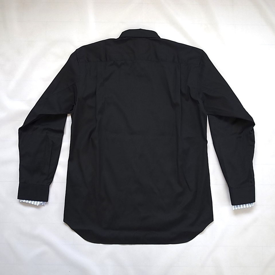 COMME des GARCONS SHIRT 袖口ストライプ ブラック シャツ sizeS_画像4