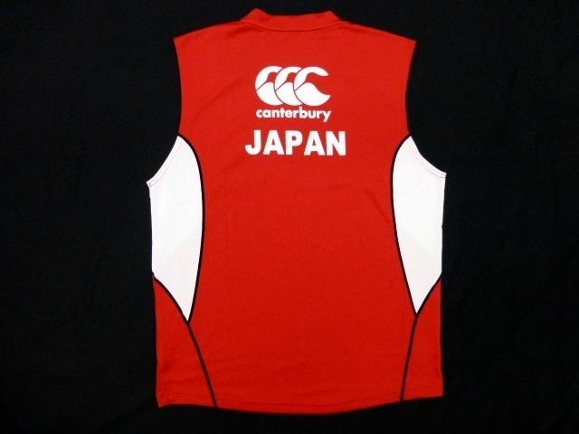 4L 新品 カンタベリー ラグビー日本代表 選手支給品 ジャパン ノースリーブ Tシャツ★タンクトップ★CANTERBURY JAPAN SLEEVELESS(STAFF)_画像5