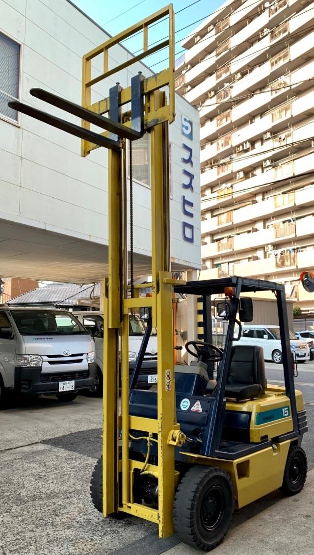 コマツ 中古フォークリフト ガソリン 1.5t FG15L-15 1.5トン格安! _画像5