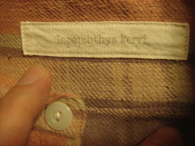 1903インパクティスケリーinpaichthys KerriワークWORK織り皿ボタン ネルシャツ フランネル_画像4