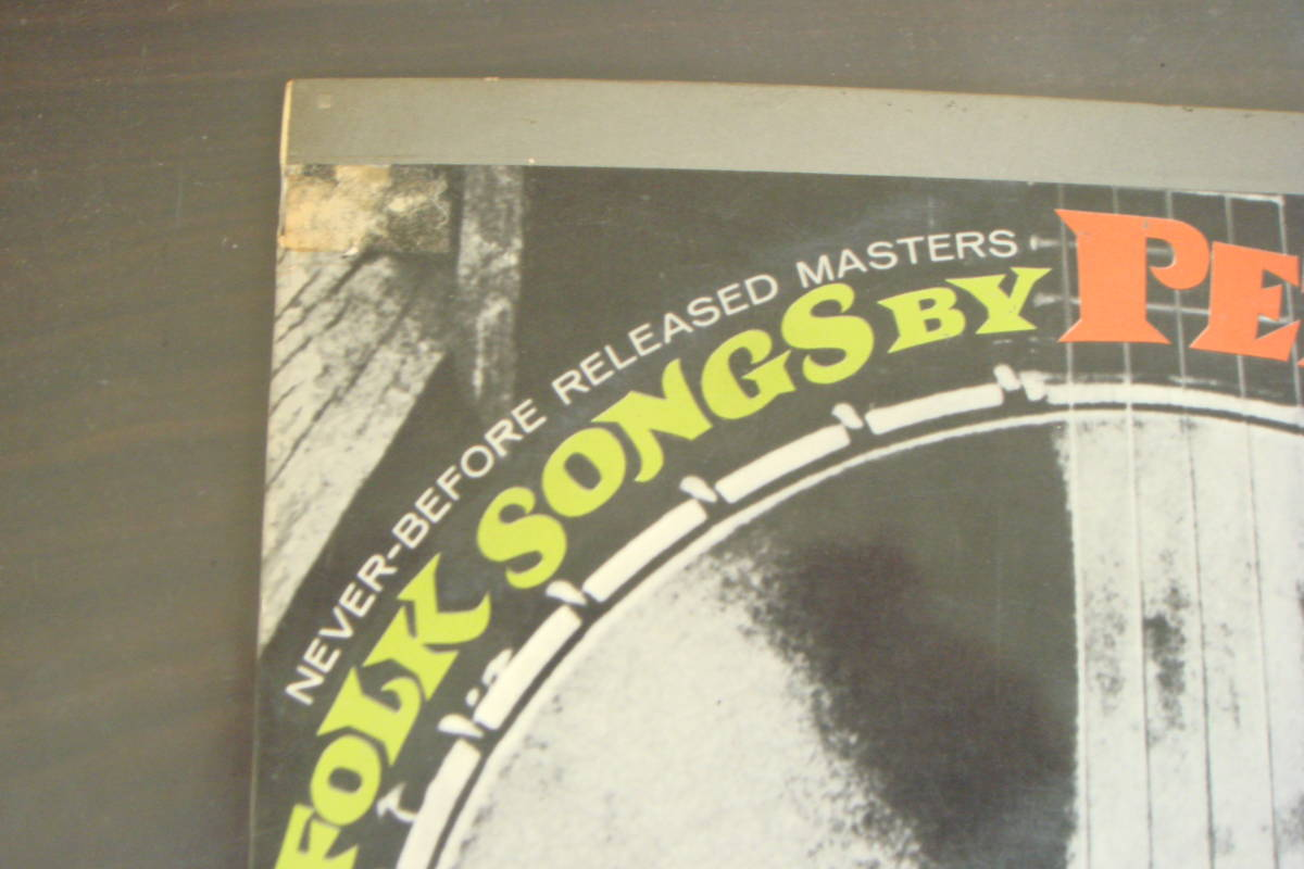 赤盤 ペラジャケ PETE SEEGER/FOLK SONGS BY ピート・シーガー/フォーク・ソングの王者_画像3