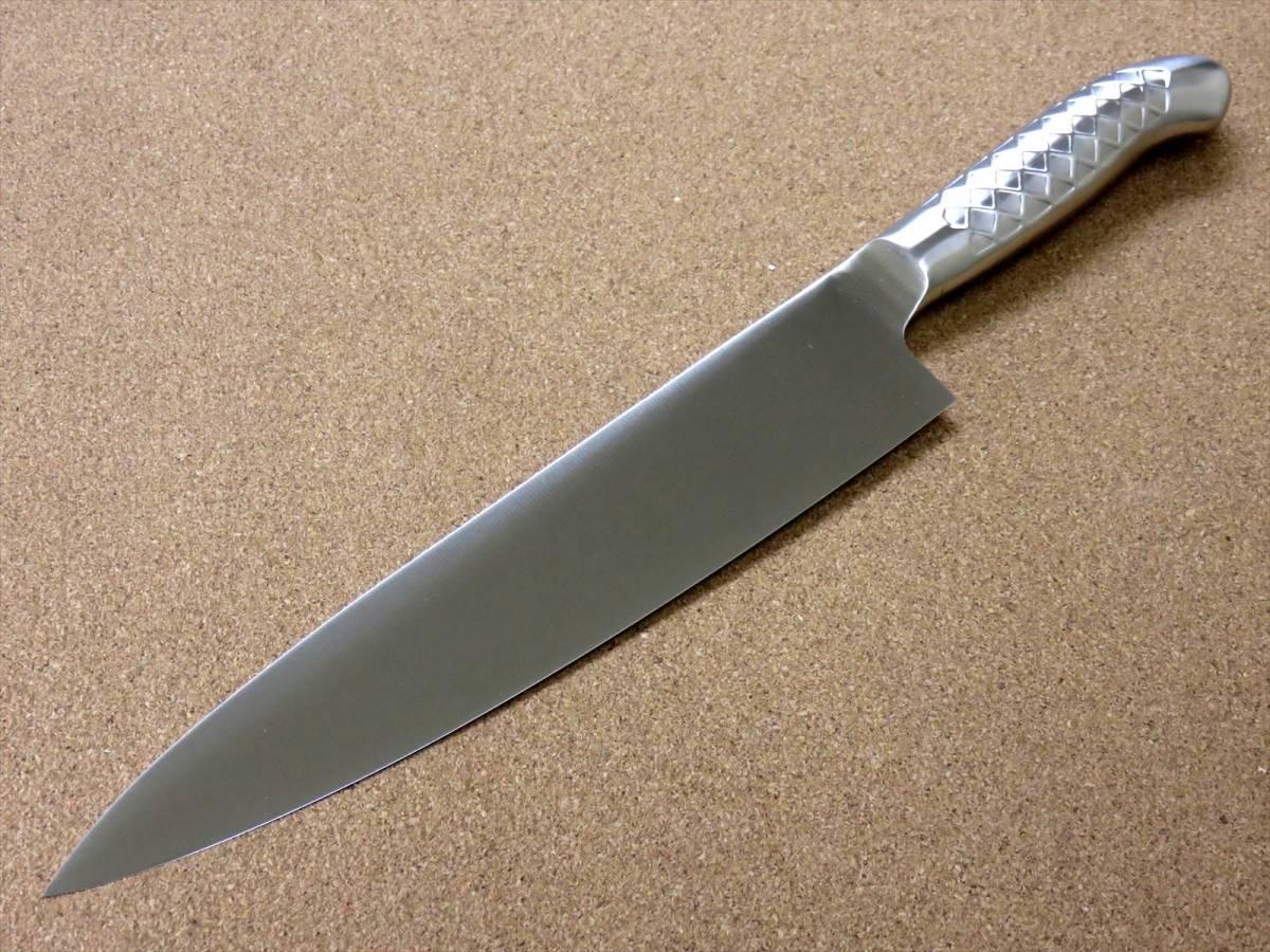 関の刃物 牛刀 24cm (240mm) PRO-S モリブデンスチール 1K-6 鍔付一体型包丁 家庭用の洋包丁 肉 魚 野菜切り パン切り 両刃万能包丁 日本製_画像4
