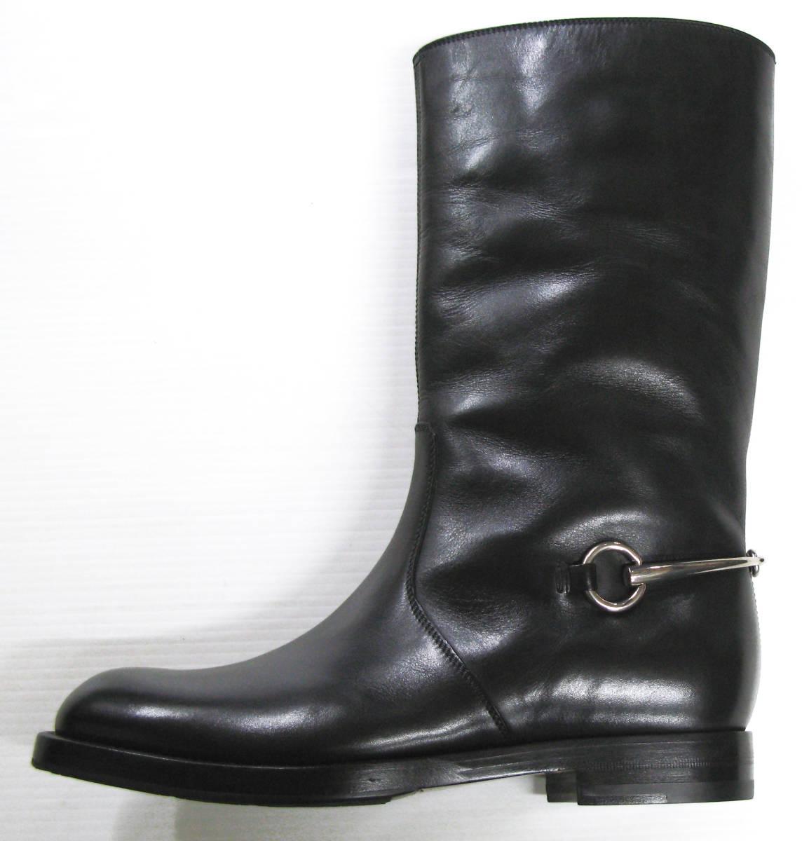 グッチ GUCCI*レザー ロング ブーツ 美品 7.5 ( 革靴 シューズ leather boots_画像2