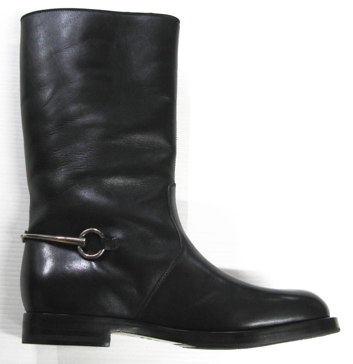 グッチ GUCCI*レザー ロング ブーツ 美品 7.5 ( 革靴 シューズ leather boots_画像3
