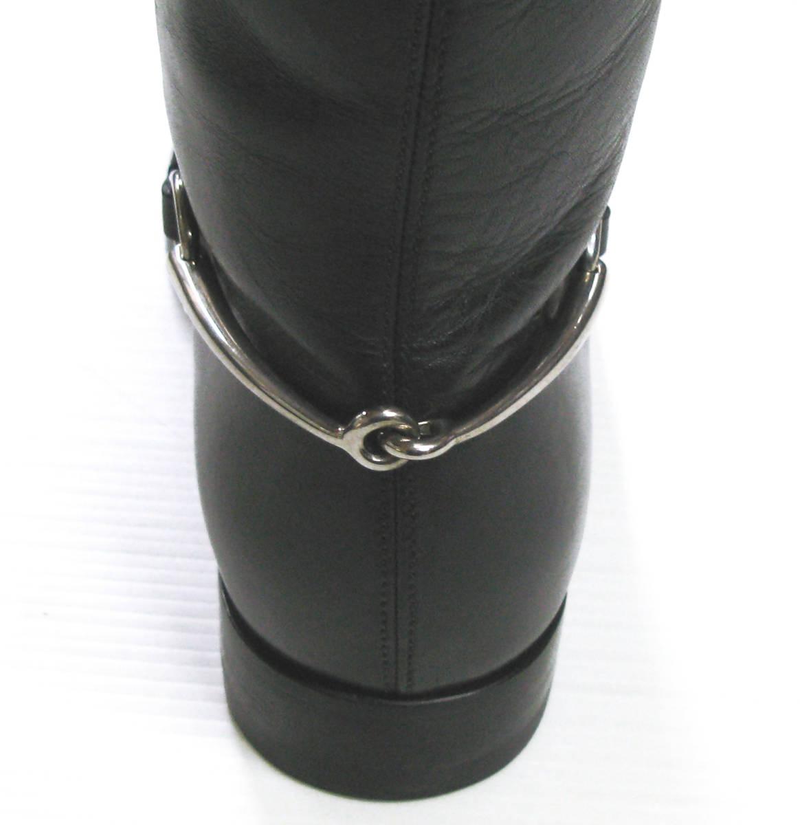 グッチ GUCCI*レザー ロング ブーツ 美品 7.5 ( 革靴 シューズ leather boots_画像6