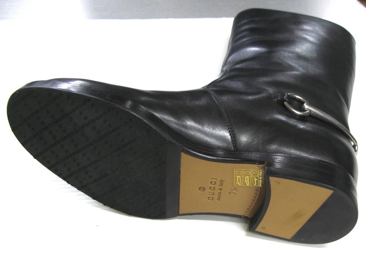 グッチ GUCCI*レザー ロング ブーツ 美品 7.5 ( 革靴 シューズ leather boots_画像4