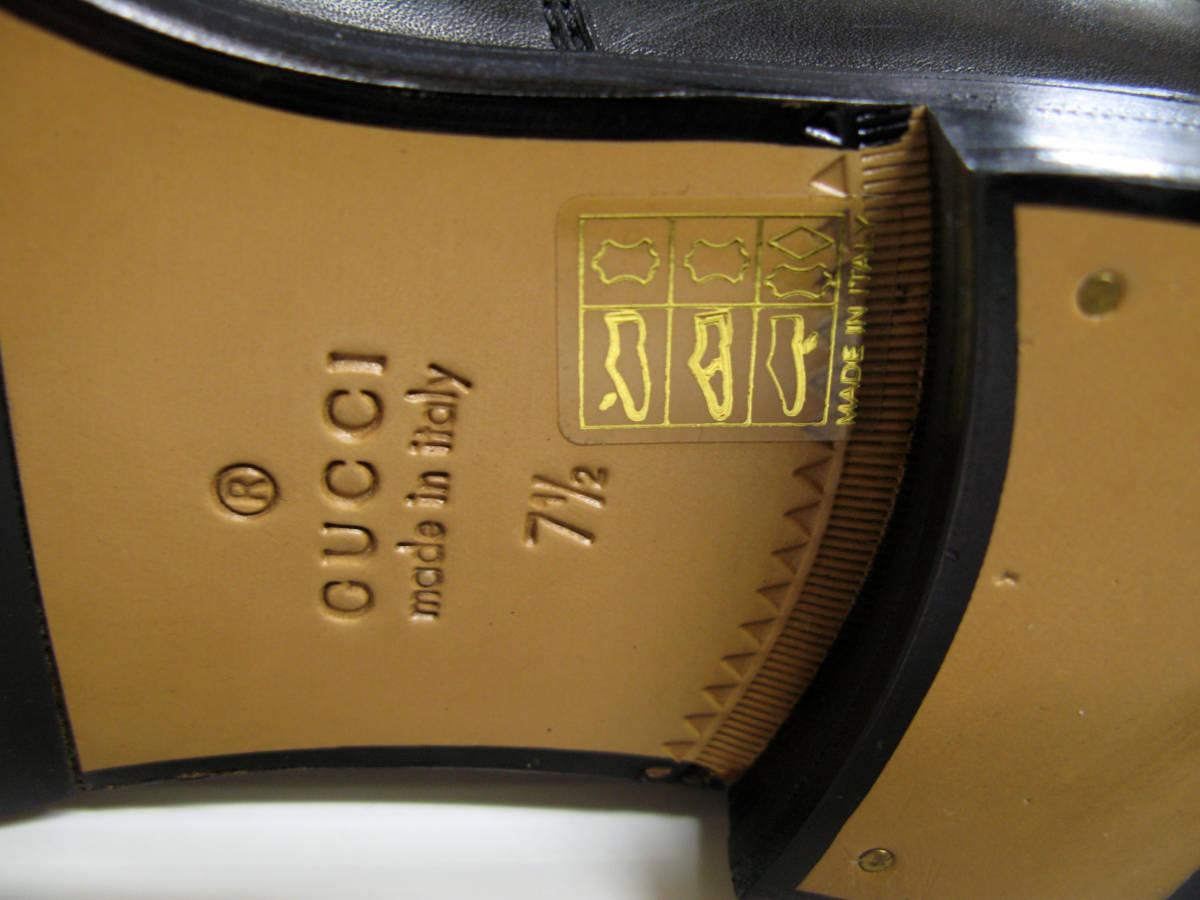 グッチ GUCCI*レザー ロング ブーツ 美品 7.5 ( 革靴 シューズ leather boots_画像7
