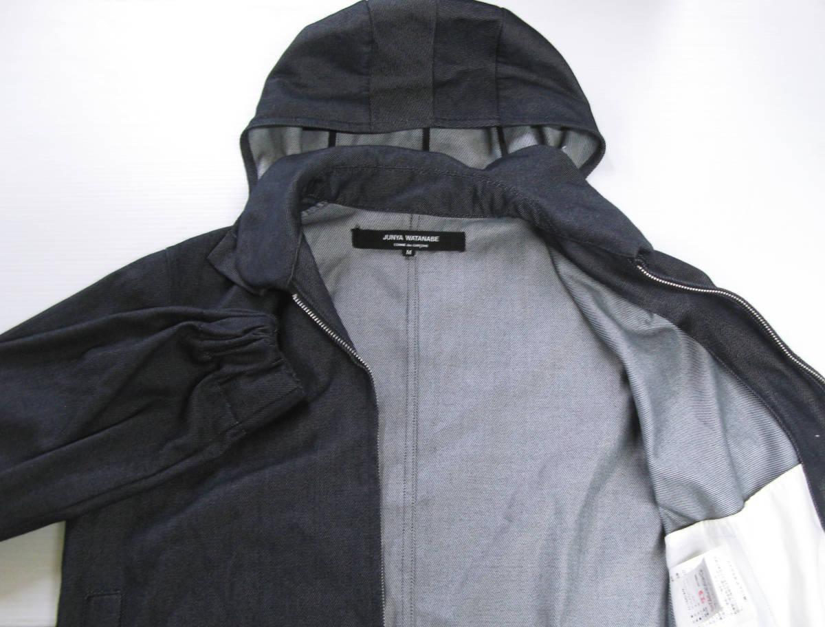 ジュンヤワタナベ:フード付き ジップ ブルゾン ( コムデギャルソン パーカ デニム COMME des GARCONS foodie jacket_画像4
