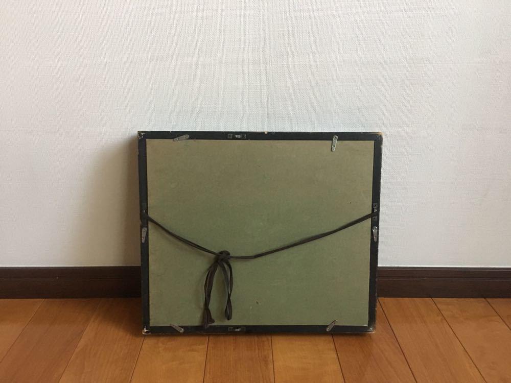 送料込現代アート 弘田一成 1990年制作 油彩 キャンパスF3 本物保証 本人サイン 額装済 37.5x32x5cm 日本現代美術_画像9