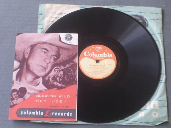 SP盤【吹き荒ぶ風BLOWING WILD/ヘイ・ジョーHey Joe!(フランキー・レインFrankie Laine)】日本コロムビア/歌詞カード付き_画像1
