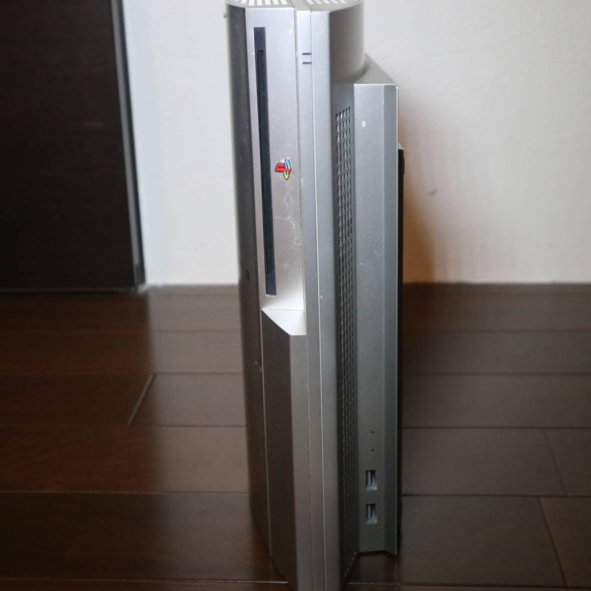 PS3 本体のみ 通電ジャンク品 CECHH00 プレイステーション3 シルバー SONY ソニー テレビゲーム_画像4