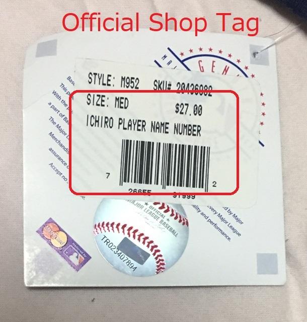 Yankeesヤンキース イチローTシャツ アメリカンMサイズ 2013年にNYタイムズ・スクウェアの公式ショップで購入したもの_画像4