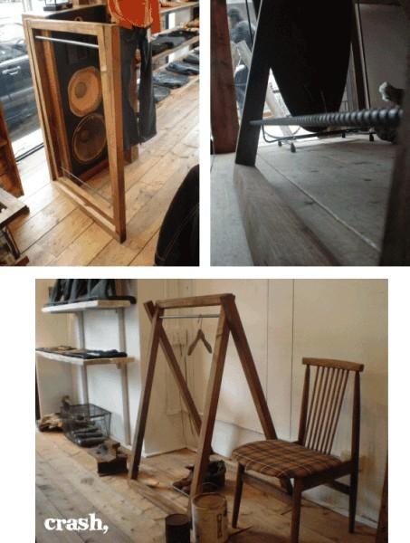 数量限定 FDG 木製 アイアン ハンガーラック 折りたたみ 収納 家具 什器 ディスプレイラック シンプル インダストリアル_画像3