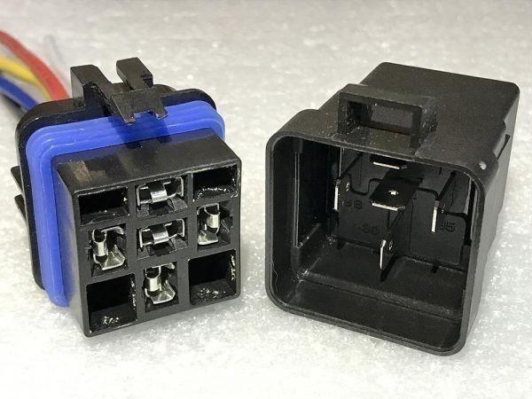【W-5PR】送料込 送料無料 5極リレー 5ピン 車載リレー C接点 DC12V 検) ハザード フォグ エーモン 2898 代用 修理 HID LED_画像2