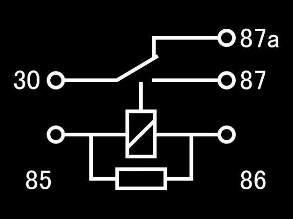【W-5PR】送料込 送料無料 5極リレー 5ピン 車載リレー C接点 DC12V 検) ハザード フォグ エーモン 2898 代用 修理 HID LED_画像6