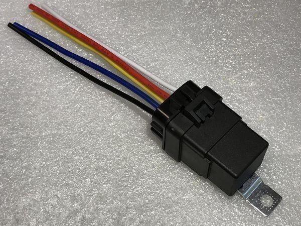 【W-5PR】送料込 送料無料 5極リレー 5ピン 車載リレー C接点 DC12V 検) ハザード フォグ エーモン 2898 代用 修理 HID LED_画像3