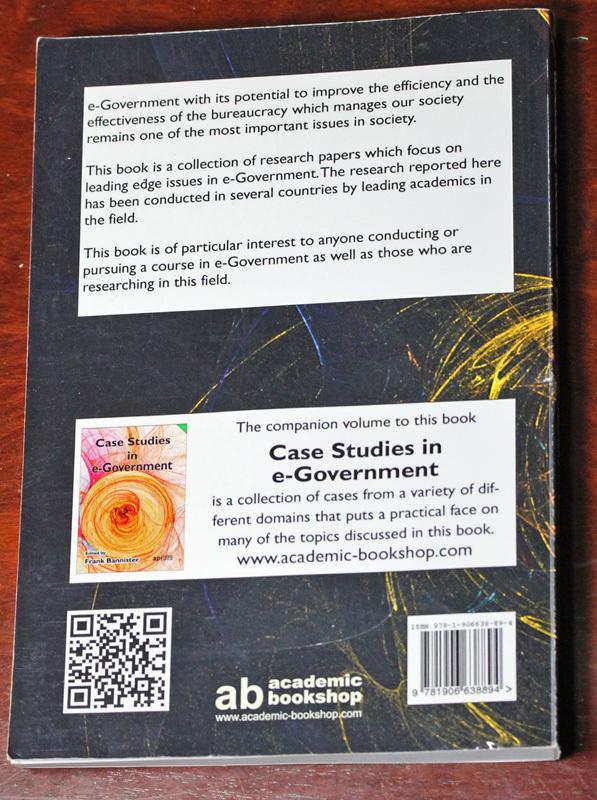 古本 Leading Issues in e-Government Research, Volume One, Academic Publishing International, イギリス, 電子政府_画像2