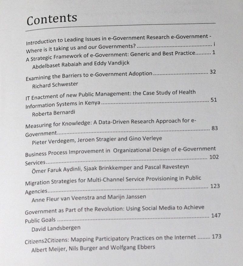 古本 Leading Issues in e-Government Research, Volume One, Academic Publishing International, イギリス, 電子政府_画像4