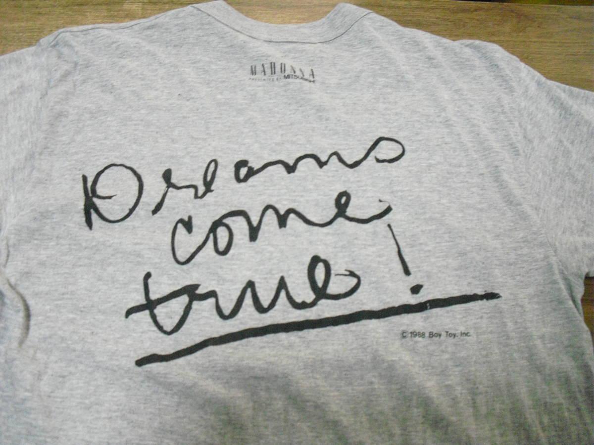 (レア) マドンナ MITSUBISHI Hi-Fi ViDEO Tシャツ (三菱 1988)_画像2