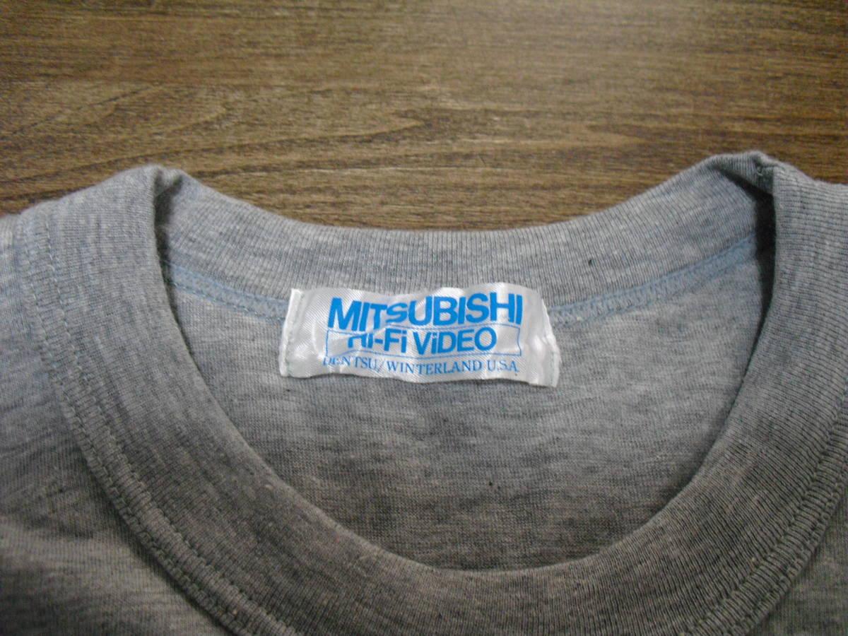 (レア) マドンナ MITSUBISHI Hi-Fi ViDEO Tシャツ (三菱 1988)_画像3