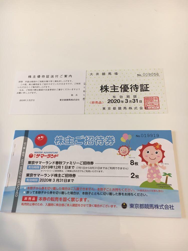 ☆新品☆東京サマーランドフリーパス券10枚&大井競馬場優待券1枚_画像1