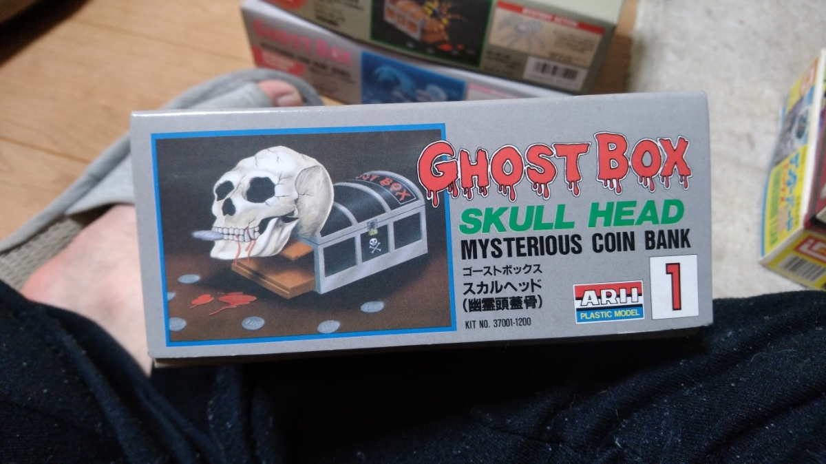 ARII Mysterious Coin Bank Series Ghost Box Skull Head