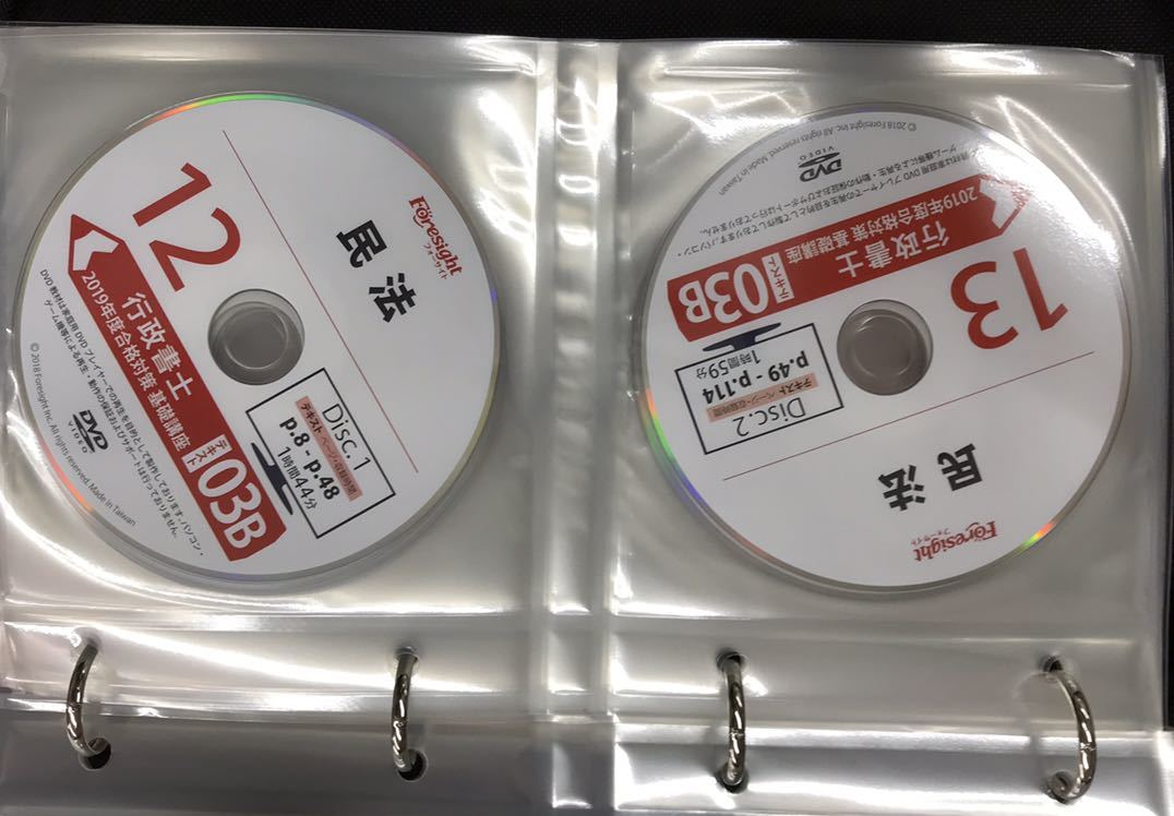 フォーサイト 行政書士 2019年度版 DVDコース 最新_画像7