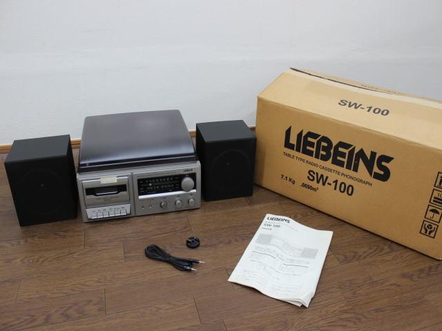 未使用☆LIEBEINS コンポ レコードプレイヤー カセット SW-100 卓上型ラジオ ☆ミニコンポ_画像1