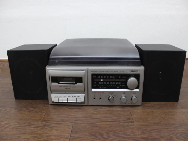 未使用☆LIEBEINS コンポ レコードプレイヤー カセット SW-100 卓上型ラジオ ☆ミニコンポ_画像2