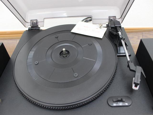 未使用☆LIEBEINS コンポ レコードプレイヤー カセット SW-100 卓上型ラジオ ☆ミニコンポ_画像4