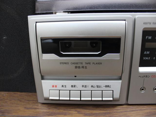 未使用☆LIEBEINS コンポ レコードプレイヤー カセット SW-100 卓上型ラジオ ☆ミニコンポ_画像6