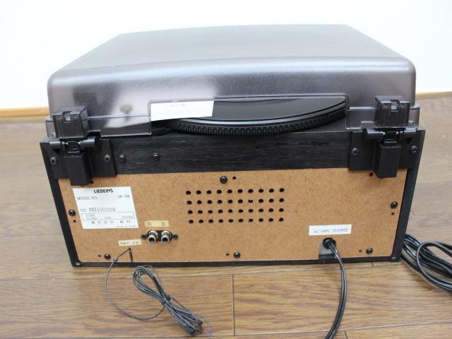 未使用☆LIEBEINS コンポ レコードプレイヤー カセット SW-100 卓上型ラジオ ☆ミニコンポ_画像8