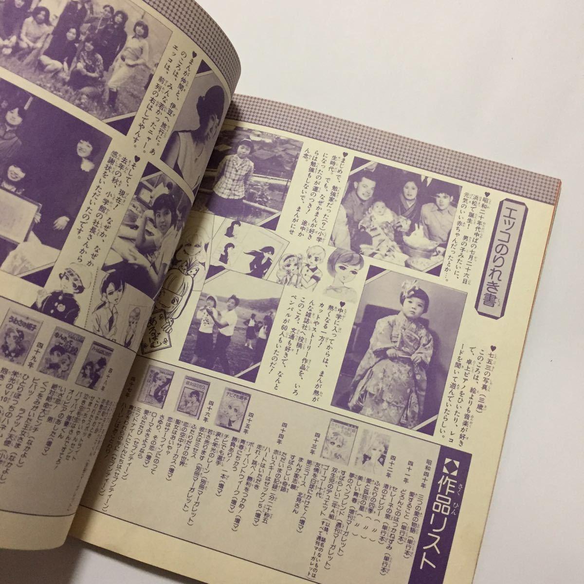 初版 うわさの姫子 愛のメモリー イラスト集 藤原栄子_画像10
