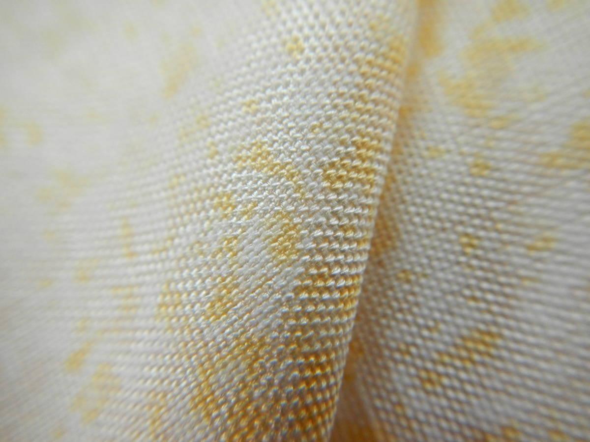 <銀の斧>正絹・紬地相良刺繍訪問着・糊吹染・春の紬・牛首紬・白山紬_画像7