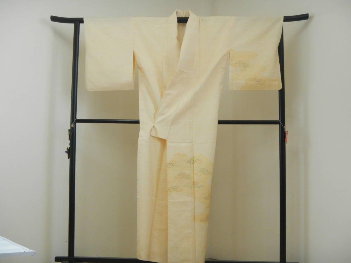 <銀の斧>正絹・紬地相良刺繍訪問着・糊吹染・春の紬・牛首紬・白山紬_画像5